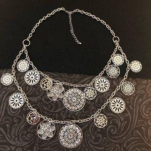 LOFT silver tone necklace